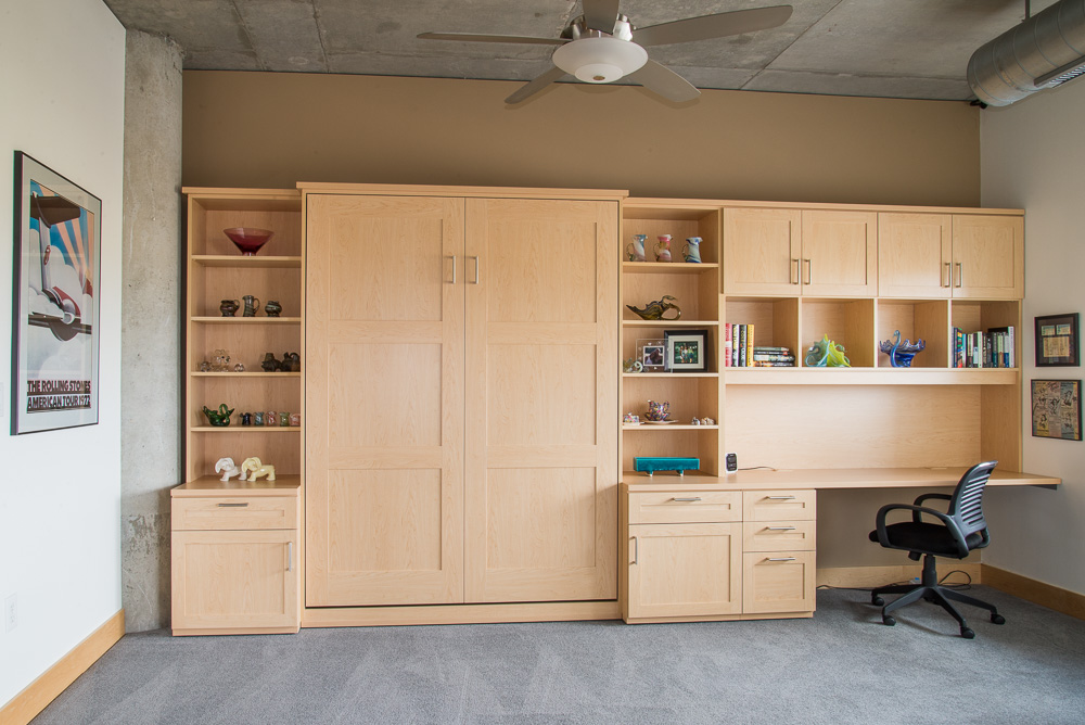 Murphy beds wall beds techline minneapolis for Home office with bed